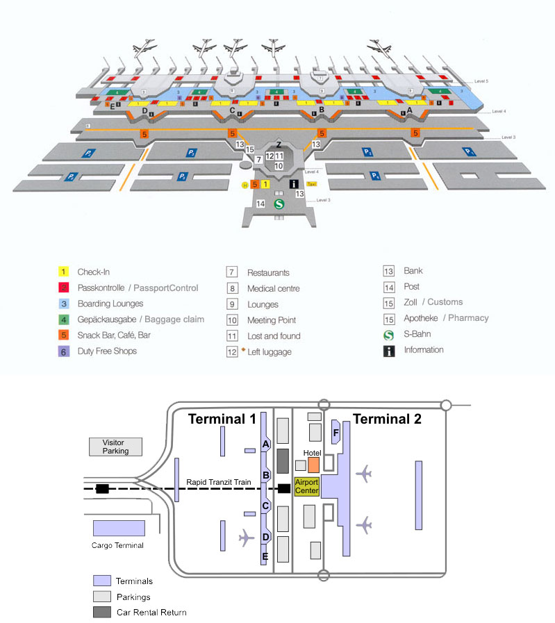 Аэропорт Мюнхен схема Германия
